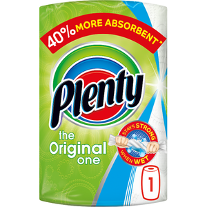 Plenty White Kitchen Roll 100 Sheets