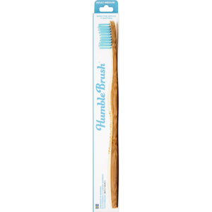 Humble Brush Adult Medium Blue Bristle Toothbrush