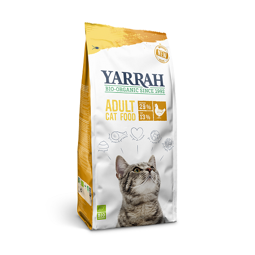Yarrah Adult Organic Dry Cat Food With Chicken 2.4Kg