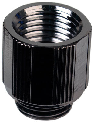 15mm Lok-Seal Male/Female Extension Adapter (Black Chrome) - Sidewinder Computers