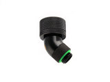 "G1/4"" Matte Black Dual Rotary 45-Degree Compression Fitting CC5 For ID 1/2"" OD 3/4"" Tube - Sidewinder Computers"