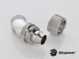 "G1/4"" Silver Shining Dual Rotary 45-Degree Compression Fitting CC6 For ID 7/16"" OD 5/8"" Tube - Sidewinder Computers"