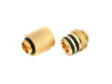 "G1/4"" True Brass D-Plug Set-One INCH Version - Sidewinder Computers"