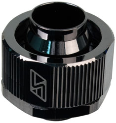 "1/2 x 3/4"" Lok-Seal Compression Fitting (Black Chrome) - Sidewinder Computers"