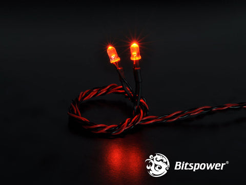 4-PIN Wired Dual LEDs 5MM (Orange) - Sidewinder Computers