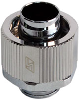 "3/8 x 5/8"" Lok-Seal Compression Fitting (Chrome) - Sidewinder Computers"