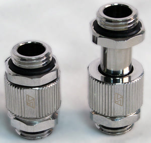 G1/4 Male to Male Lok-Seal SLI Fitting - 20 to 33 MM (Chrome) - Sidewinder Computers