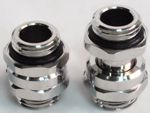 G1/4 Male to Male Lok-Seal SLI Fitting - 11 to 18 MM (Chrome) - Sidewinder Computers