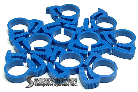 "Herbie Clip Nylon Hose Clamp 0.47"" - 0.54"" 20-Pack (Blue) - Sidewinder Computers"