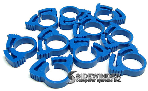 "Herbie Clip Nylon Hose Clamp 0.59"" - 0.67"" 20-Pack (Blue) - Sidewinder Computers"