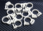 "Herbie Clip Nylon Hose Clamp 0.67"" - 0.75"" 20-Pack (White) - Sidewinder Computers"