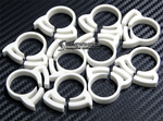 "Herbie Clip Nylon Hose Clamp 0.71"" - 0.81"" 20-Pack (White) - Sidewinder Computers"