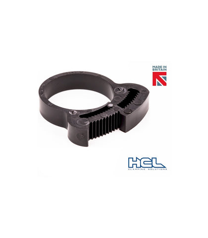 "Herbie Clip Nylon Hose Clamp 0.909"" - 1.028"" 20-Pack (Black) - Sidewinder Computers"