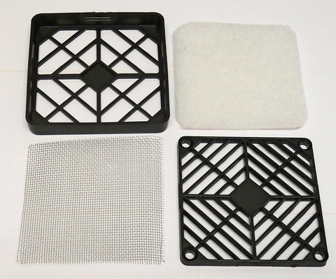 80mm Classic Fan Filter Easy Cleaning Mesh with Tool-Less Cover