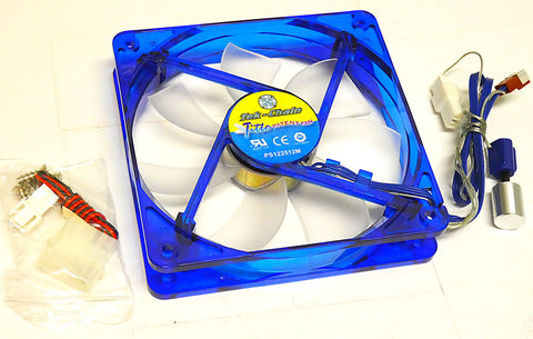 Tek-Chain 120x25 mm Adjustable Blue Quad LED Fan (TC-12CAS-BL)