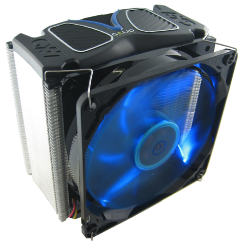 GX-7 7 Heatpipe CPU Cooler w/120mm Blue LED Fan - Sidewinder Computers