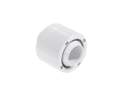 "G1/4"" Deluxe White Compression Fitting CC6 V2 For ID 7/16"" OD 5/8"" Tube - Sidewinder Computers"