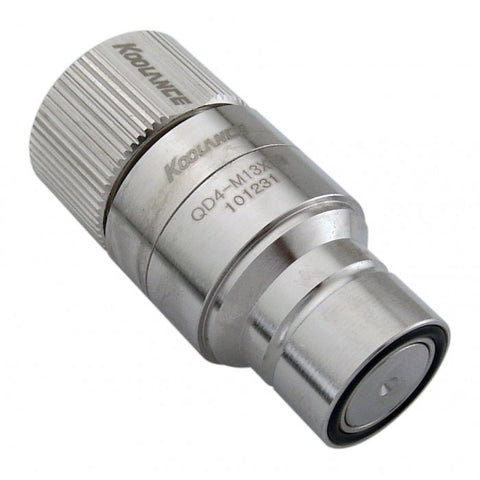 QD4 Male Quick Disconnect No-Spill Coupling, Compression for 13mm x 19mm (1/2in x 3/4in) - Sidewinder Computers