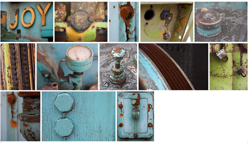 Limited edition photography prints by Laura Cook evoke strong emotions in this industrial series that explores the blue/rust and lime/rust colour palette