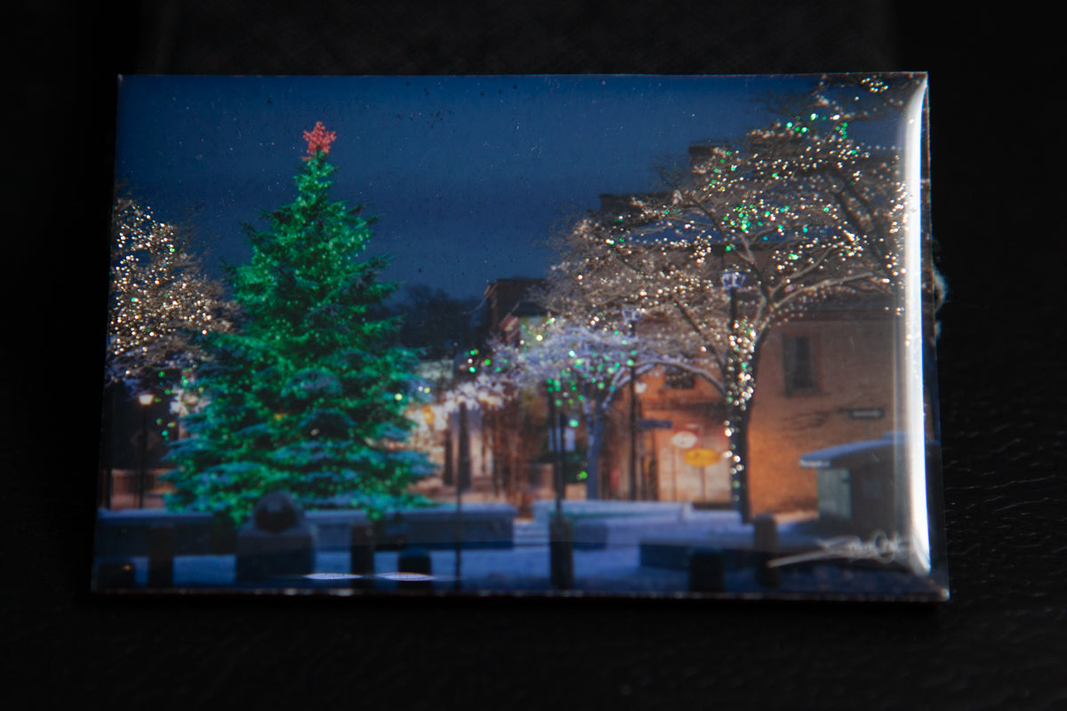 cambridge ontario handmade photo magnet by local artist laura cook