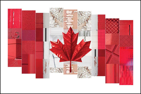 wall art canadian flag