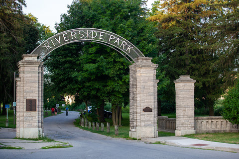 Photo of Riverside Park Gate Preston Cambridge Photo by Cambridge Ontario Photographer Laura Cook of Vision Photography