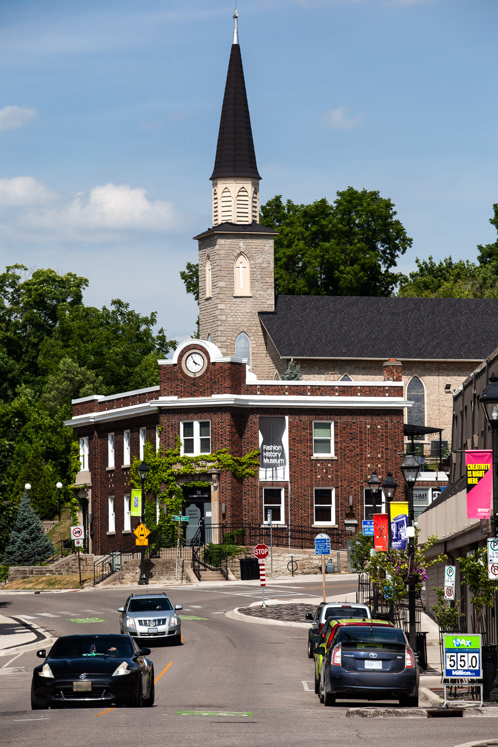Photo of Hespeler Village Queen Street, old post office, now fashion history museum by Laura Cook of Vision Photography