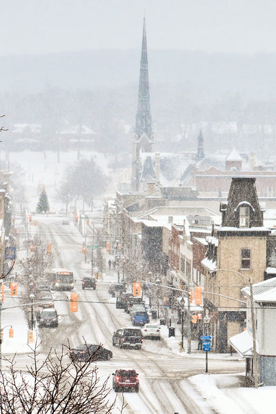 Winter on Main Street Galt Cambridge wall art Photo by Cambridge Ontario Photographer Laura Cook of Vision Photography