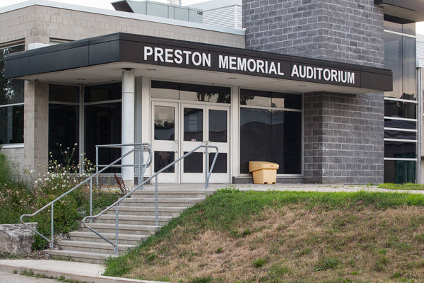 Preston Memorial Auditorium Photo by Cambridge Ontario Photographer Laura Cook of Vision Photography