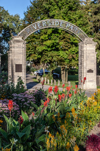 The regent gates of Preston's Riverside Park Photo by Cambridge Ontario Photographer Laura Cook of Vision Photography