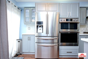 Blue & Grey Kitchen - Altima Homes Inc.