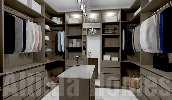 Spacious Brown Walk-In Closet - Altima Homes Inc.