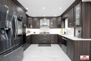 Classic Kitchen With Brown Cabinets - Altima Homes Inc.