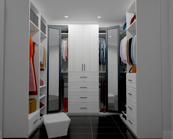 Spacious White Closet - Altima Homes Inc.