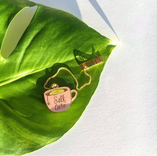 Self-care Mug Enamel Bookmark