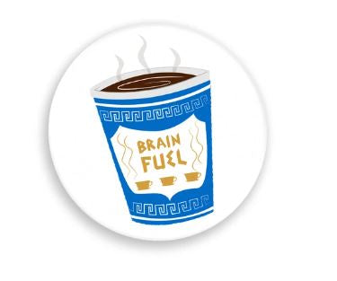 Brain Fuel Coffee Pin