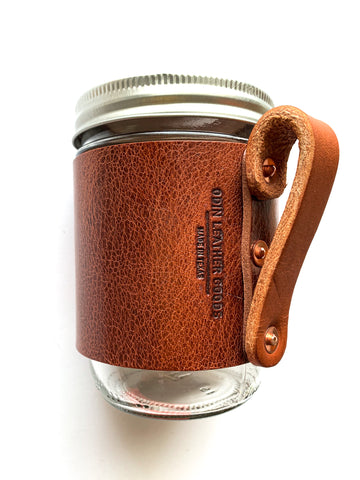 Leather Mason Travel Mug