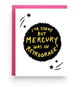 Mercury Retrograde card
