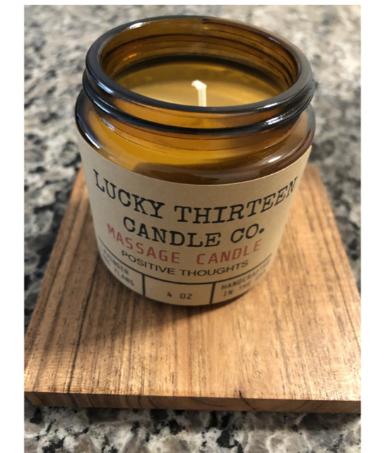 Positive Thoughts Massage Candle