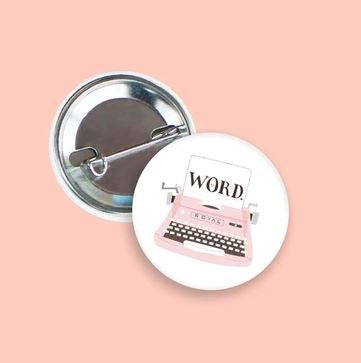 Vintage Typewriter Pin
