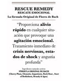 s. TINTURA RESCUE REMEDY