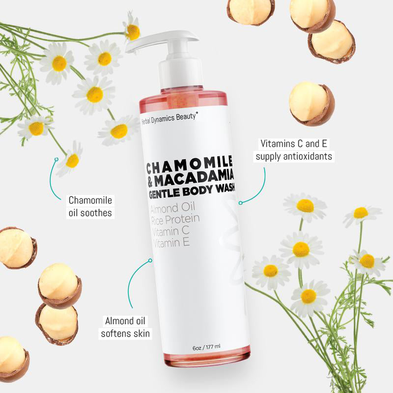 Chamomile & Macadamia Gentle Body Wash - Splendr