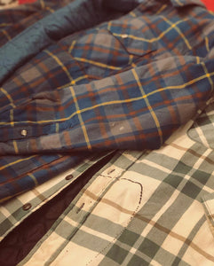 Mens lined vintage flannel