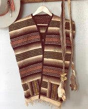 Load image into Gallery viewer, Mens Woven Poncho Vest