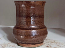 Load image into Gallery viewer, Stripe Brown Petite Vase