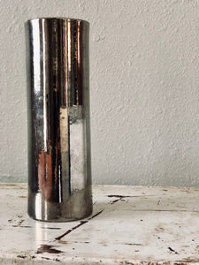 Italian Silvered Glass Vase