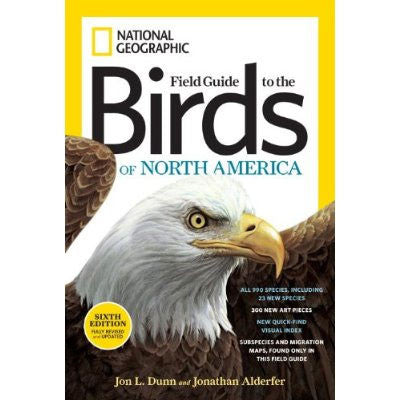 National Geographic Field Guide to the Birds of North America, 6th Ed.