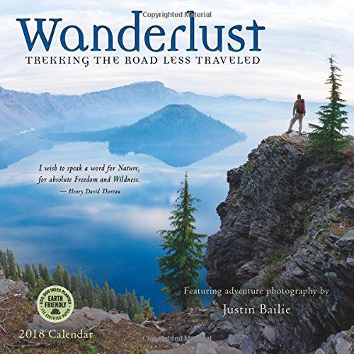 Calendario 2018 Wanderlust: Trekking the Road Less Traveled