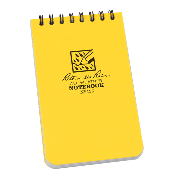 Libretas Rite in the Rain con Espiral Superior Color Amarillo 135