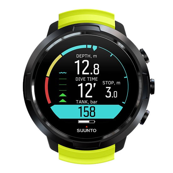 Smart Watch SUUNTO de Buceo D5 Color Verde Limón y Negro